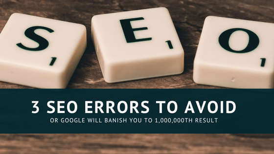 SEO errors to avoid
